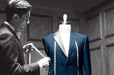 Tailor working on a suit